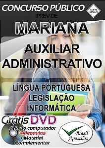 Mariana IPREV - MG - 2020 - Apostila Para Auxiliar Administrativo