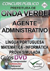 Onda Verde - SP - 2020 - Apostila Para Agente Administrativo