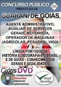 Guarani  de Goiás - GO - 2020 - Apostilas Para Nível Fundamental, Médio, Técnico e Superior