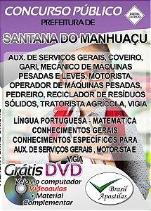 Santana do Manhuaçu - MG - 2020 - Apostilas Para Nível Fundamental, Médio, Técnico e Superior