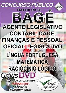 Bagé - RS - 2020 - Apostila Para Agente e Oficial Legislativo