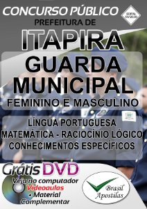 Itapira - SP - 2020 - Apostila Para Guarda Municipal Feminino E Masculino