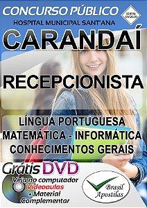 Carandaí - MG - Hospital Municipal Sant'Ana - 2020 - Apostila Para Recepcionista