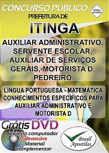 Itinga - MG - 2020 - Apostilas Para Nível Fundamental, Médio, Técnico e Superior