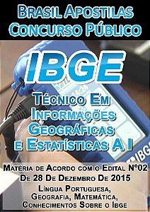 Apostila Técnico em Informações Geográficas e Estatísticas A I - IBGE