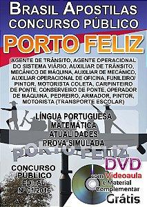 Porto Feliz 2016 - Apostilas para Nível Fundamental e Nível Superior - Diversos cargos