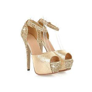 Sapato Salto Alto Coleção Brilhante   Casamento