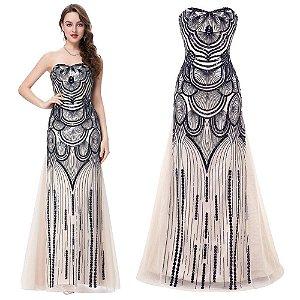 Vestido Selene Angel  Exclusive Vintage  Tulle Lantejoulas  Especiais