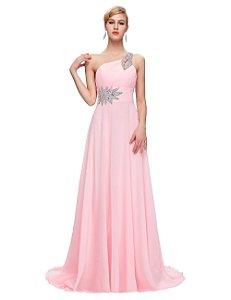 Vestido Marise  de Um Ombro Coleção Exclusiva 2016