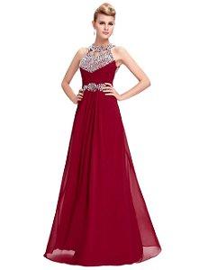 Vestido  Christy  Coleção Exclusiva Soirée  Royal Decoração Luxo Lantejoulas