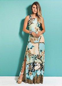 Vestido Longo Mix Floral