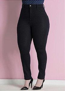 Calça Jeans Skinny Plus Size Marinho