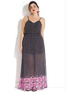 Vestido Plus Size Longo Floral