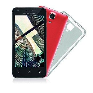 Smartphone Mini Tablet Preto MS45S, Quad Core, Android, Tela