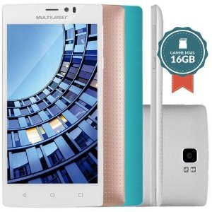 Smartphone Ms60 Colors Dual Branco + 2 Capas E 1 Microsd 16g