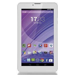 Tablet Branco M7 3G Quad Core Câmera Wi-Fi Tela Hd 7' Memó
