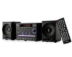 Caixa De Som Mini System Com Dvd Player Usb 30w Rms Multilas