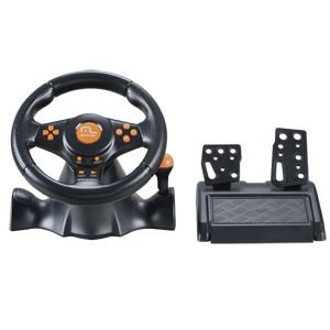 Volante Laranja Racer 3 em 1 Wireless para PS2, PS3 e PC Mul