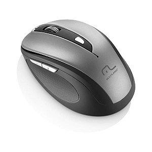 Mouse Multilaser Sem Fio 1600Dpi USB 6 Botões Preto e Cinza