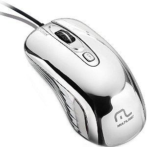 Mouse Com Led USB Prateado Multilaser - MO228