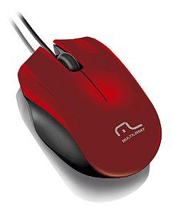 Multilaser Mouse com Fio Sport USB MO195 Vermelho