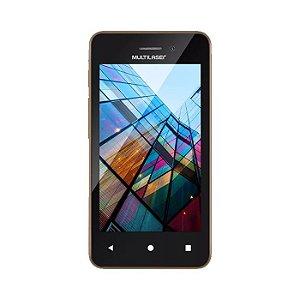 """Smartphone Multilaser MS40S Preto/Dourado 4"""" Câmera 2 MP +"""