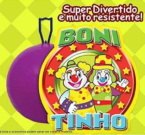 "Bola Pula Pula 20"" Boni e Tinho Brinque Feliz - 708"