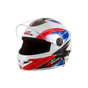 Capacete 4 Racing (+ Viseira Cromada) Vermelho/Azul   58 Pro