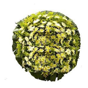 1- Coroa de Flores para Velório Serenidade - Branca