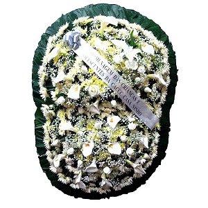 9A - Coroa de Flores para Velório - Celestial Branca