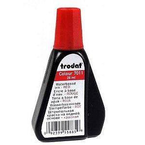Tinta pra Carimbo Automático Trodat 7011 Vermelha