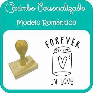 Carimbo de Madeira Personalizado Modelo RO01