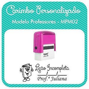 Carimbo Personalizado Modelo Professores - MPM02