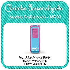 Carimbo Personalizado Modelo Profissionais - MP-03