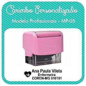 Carimbo Personalizado Modelo Profissionais - MP-05