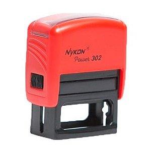 Carimbo Automático Nykon Black 302 - Vermelho