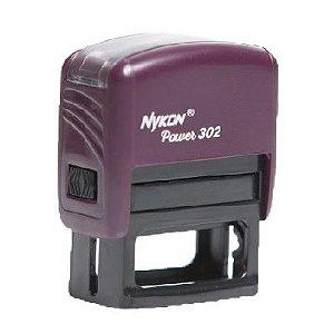 Carimbo Automático Nykon Black 302 - Roxo