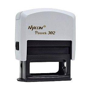 Carimbo Automático Nykon Black 302 - Branco