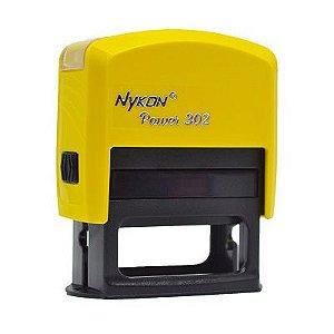 Carimbo Automático Nykon Black 302 - Amarelo