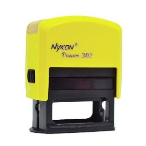 Carimbo Automático Nykon Black 302 - Amarelo Limão