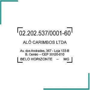 Carimbo de CNPJ - CP-01