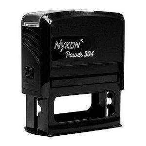 Carimbo Automático Nykon Black 304 - Preto