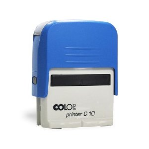 Carimbo Colop Printer 10 - Azul - 25x9mm