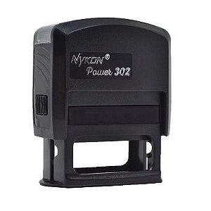 Carimbo Automático Nykon Black 302 - Preto