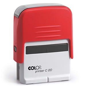 Carimbo Colop Printer 20 - Vermelho