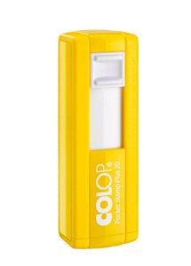 Carimbo de Bolso Colop Pocket Plus - Amarelo