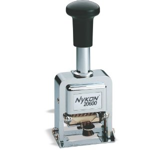 Carimbo Numerador Automático Nykon 20600 de 6 Dígitos