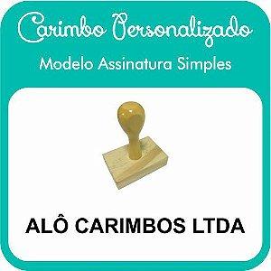 Carimbo de Madeira Personalizado Modelo 02