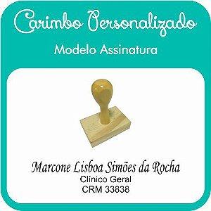 Carimbo de Madeira Personalizado Modelo 09