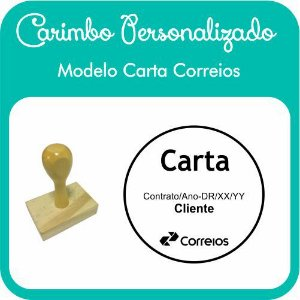 Carimbo de Madeira Personalizado Modelo 10